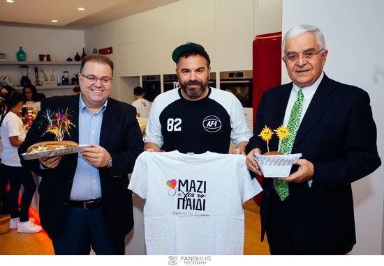 ο πρόεδρος της WIND με το Σέφ Γιώργο Καλλίδη και τον κ. Παπαδάτο απο την Ένωση